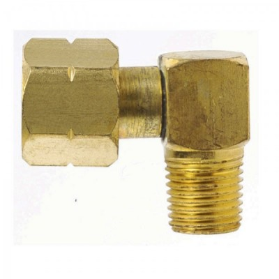 """COI Cylinder Adaptor - 3/8"""" LH to 1/4"""" BSP right angle"""