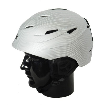Helmet H01 Adult In Moulded, Silver Carbo, XL